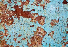 Rusted metal wall background texture Stock Photo
