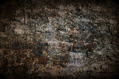 Rusted metal wall with border Royalty Free Stock Images