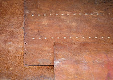 Rusted metal wall grunge background texture Royalty Free Stock Photos