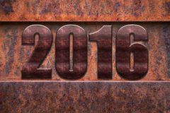2016 rusted metal Royalty Free Stock Images