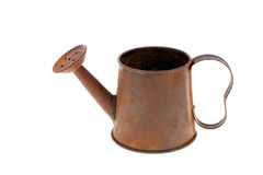 Rusted miniature watering can Royalty Free Stock Photo