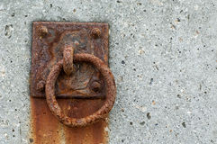 Rusted mooring ring Stock Image