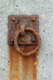 Rusted mooring ring Royalty Free Stock Image