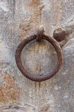 Rusted mooring ring Stock Images