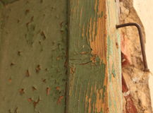 Rusted nail. In a frame Royalty Free Stock Photo