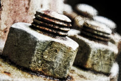 Rusted nuts Royalty Free Stock Photo