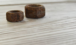 Rusted Nuts Stock Photo
