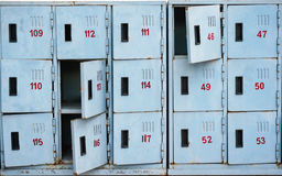 Rusted old cabinet lockers background Royalty Free Stock Image