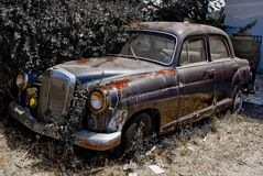 Rusted old car. Neglected for several years Stock Image