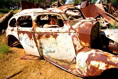Rusted Old Car Royalty Free Stock Photos