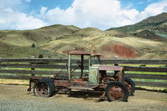 Rusted old car in Cant Ranch, Oregon. Rusted old car in Cant Ranch, John Day Fossil Beds, near John Day, OR stock image