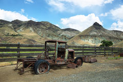 Rusted old car in Cant Ranch, Oregon. Rusted old car in Cant Ranch, John Day Fossil Beds, near John Day, OR royalty free stock photos