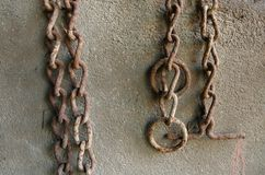 Rusted old chains Stock Photos