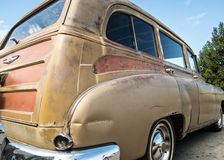 Rusted old Chevy wagon Stock Images