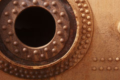 Rusted old engine. Circular form. Stock Images