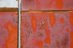 Rusted old garage door background Stock Photos