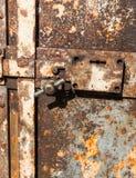 Old western town jail door royalty free stock image