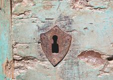 Rusted Old Keyhole Stock Photo