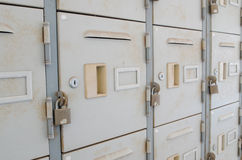 Rusted old lockers Stock Photo