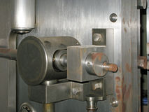 Rusted Old Open Bank Vault Door. stock photography
