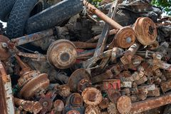 Rusted Old Spare Parts of vehicle royalty free stock photos