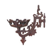 Rusted old wall candle holder isolated Royalty Free Stock Photos