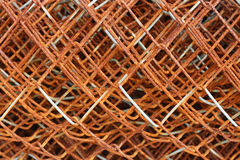 Rusted old wire mesh Stock Images