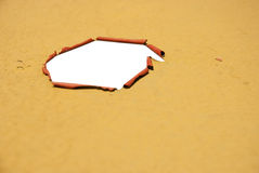 Rusted open hole Royalty Free Stock Photos