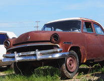 Rusted Out Antique Car Royalty Free Stock Images