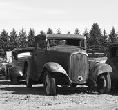 Rusted Out Antique Cars Stock Images