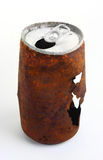 Rusted out soda can. Old rusted out soft drink can Royalty Free Stock Photo