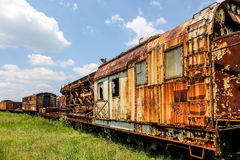 Rusted Out Train Cars Stock Photo