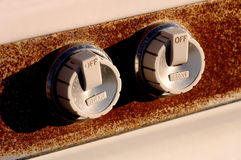 Rusted Oven Knobs Royalty Free Stock Photography