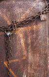 Rusted padlock and chain Royalty Free Stock Image