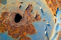 Rusted Painted Metal Stock Photography