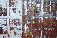Rusted painted metal plates stock photo