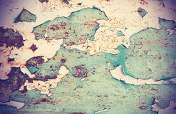 Rusted painted metal wall, texture or background Stock Image
