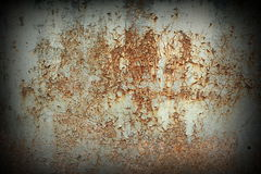 Rusted painted metallic board Stock Photo