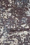 Rusted painted wooden wall. Corroded wooden background. Wooden background with rusted spots Stock Photo