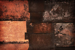 Rusted patches of metal Royalty Free Stock Image