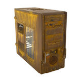 Rusted PC case closed Stock Photography