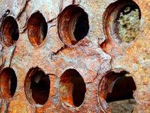 Rusted a perforé le métal Images libres de droits