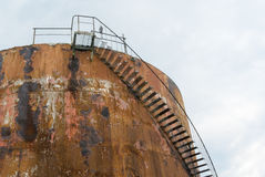 Rusted petrol tank Royalty Free Stock Photography