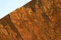 Rusted piece of metal. Close up of rusted piece of metal Royalty Free Stock Images