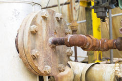 Rusted Pipe. In Chemical Industry Outdoor Stock Photography