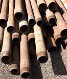Rusted pipes details Royalty Free Stock Photography