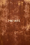 Rusted PRIVATE Entranceway Stock Photography