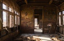 Rusted rail car interior. Stock Image