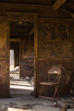 Rusted rail car interior. Royalty Free Stock Photography