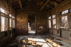 Rusted rail car interior. Stock Photography